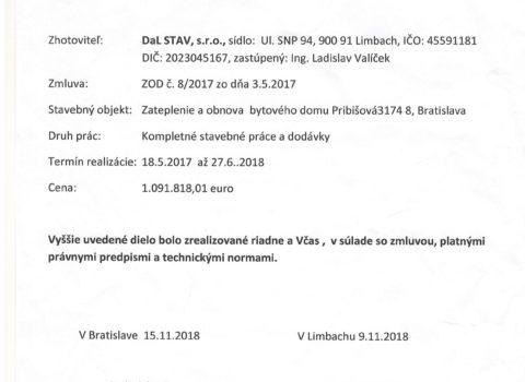 Zateplenie a obnova BD Pribišova Bratislava